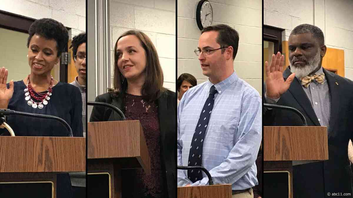 4 board members sworn in at Chapel Hill-Carrboro City Schools