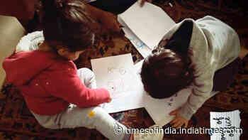 Cuties Taimur Ali Khan and Inaaya Naumi Kemmu channel their inner artists, Soha Ali Khan shares an adorable picture