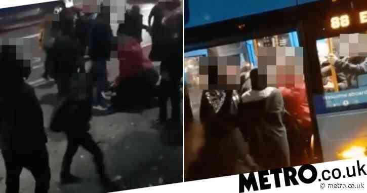 Woman, 40, savagely beats schoolgirl, 14, in bus brawl