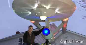 'You can't have Christmas without Star Trek': Moncton man builds Starship Enterprise Christmas display
