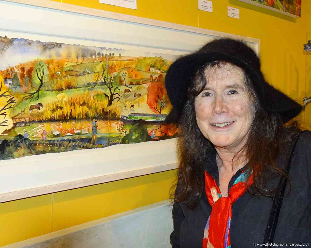 Local artists display work for Christmas at Bingley Gallery