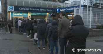 Long lines for TransLink's keychain Compass cards, but don't expect Compass app soon