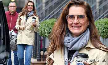 Brooke Shields, 54, looks much younger than her years in tinted sunglasses