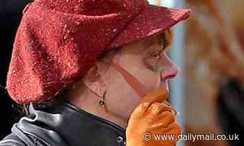 Susan Sarandon, 73, still has black eye as she ignores injuries from her fall to run errands in NYC