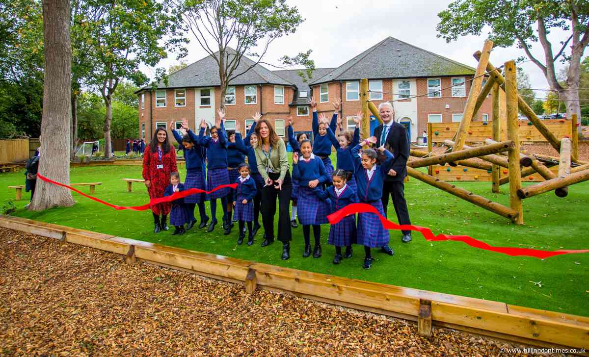 Northwood girls celebrate opening of new adventure playground