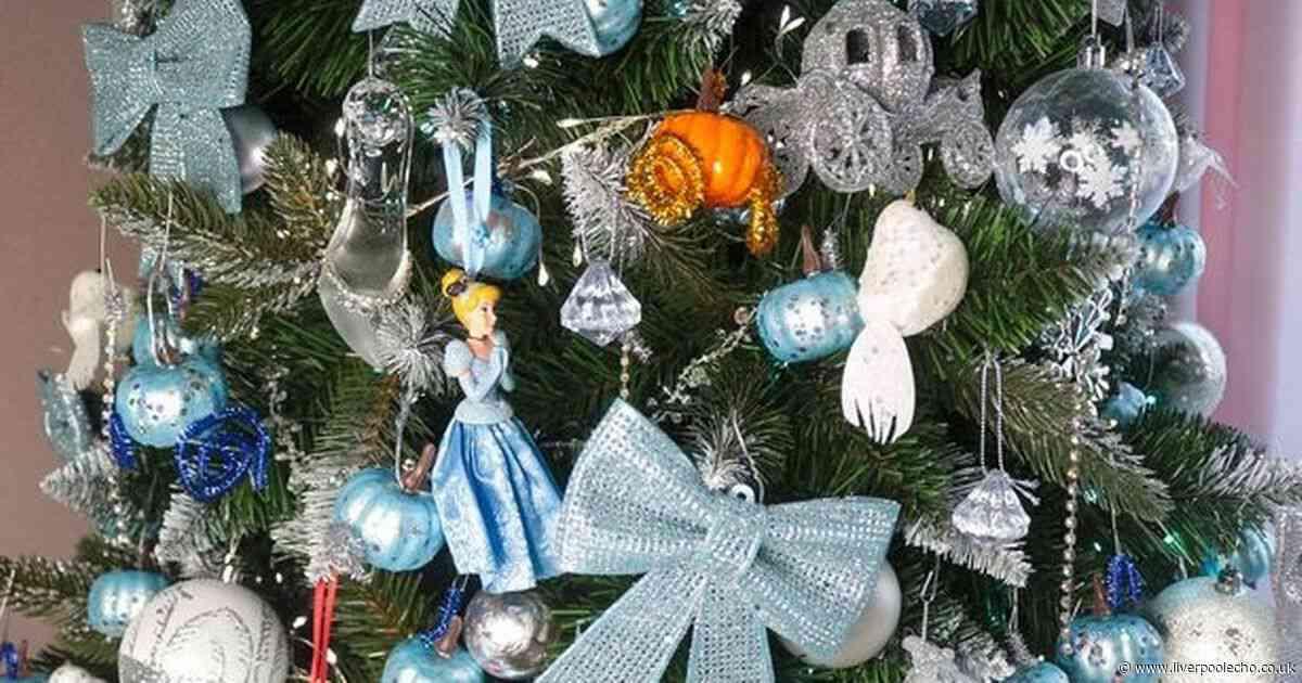Disney fan creates magical seven foot Cinderella Christmas tree