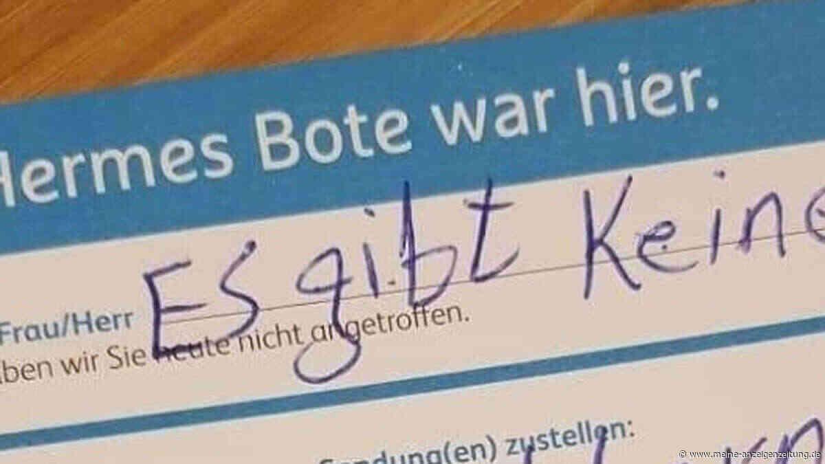 """Hermes: Paketbote hinterlässt traurige Nachricht auf Zettel - """"Komplett die Ehre genommen"""""""