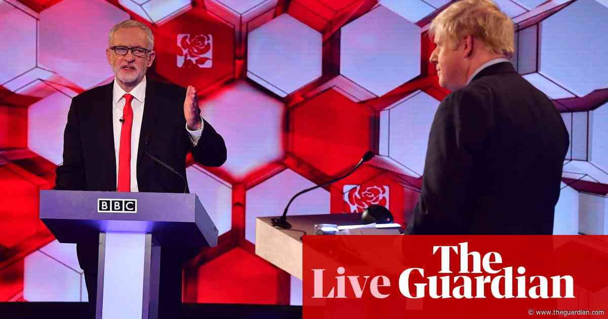 BBC debate: Johnson and Corbyn clash over Brexit, NHS and racist language – live news