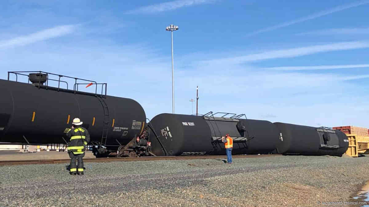Tanker Trains Derailed At Sacramento County Railyard Near Roseville