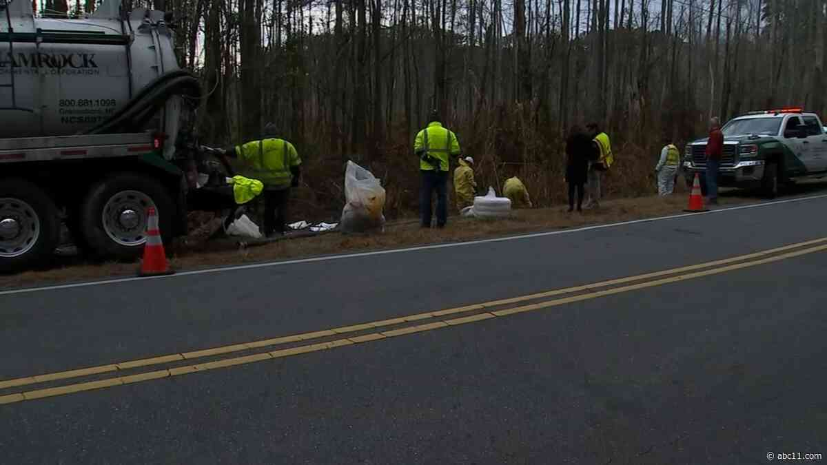 Cumberland crews clean up big spill after illegal fuel dumping