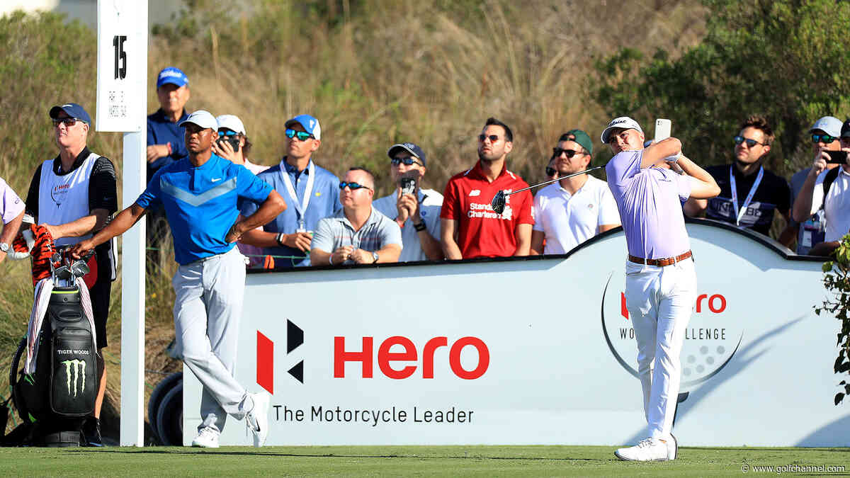 Final-round tee times at Hero: Woods, Thomas together again