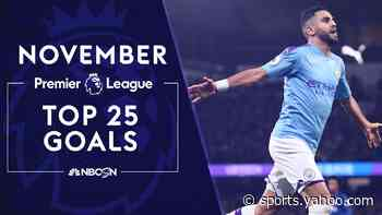 Top 25 goals from Premier League in November