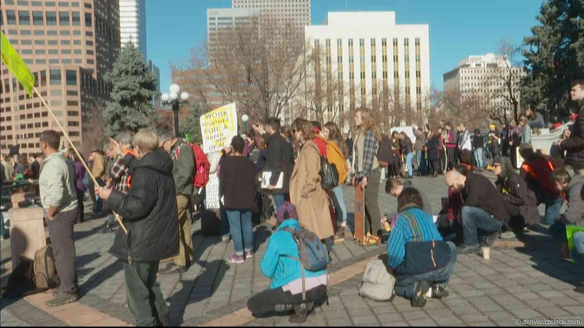 Climate Change Activists March Through Denver Streets