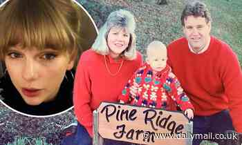 Taylor Swift shares throwback photo of herself and her parents in sweaters