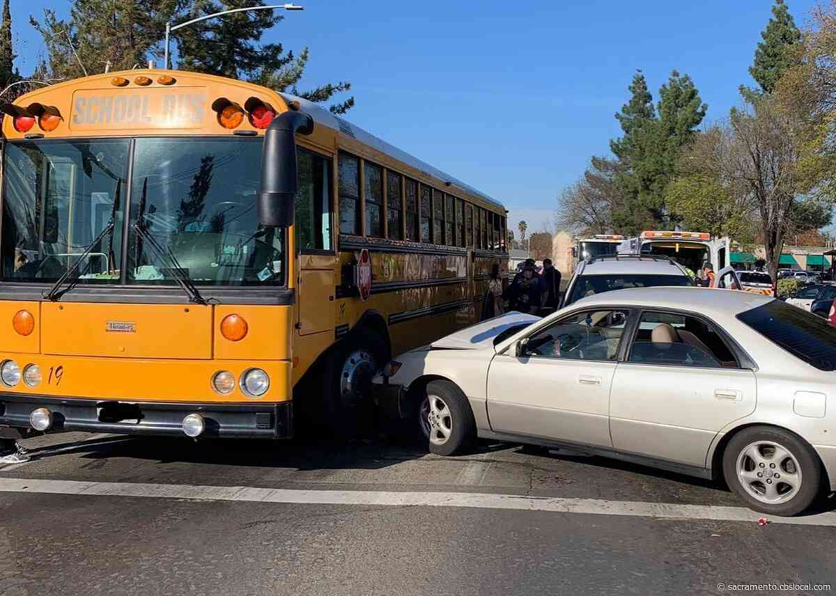 Stockton Student Riding School Bus Injured In DUI Crash