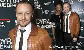 James McAvoy joins co-starAnita-Joy Uwajeh during press night for Cyrano de Bergerac