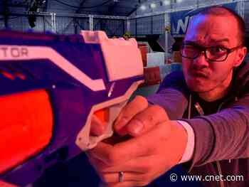 Taking on Nerf Challenge's battle arenas and obstacle courses     - CNET