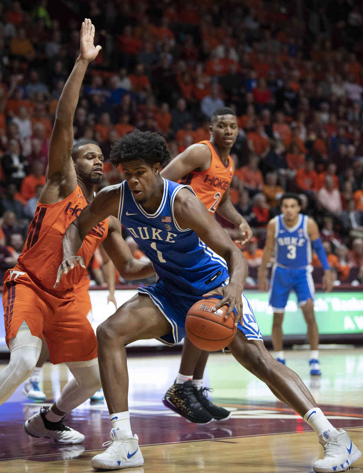 Duke downs Virginia Tech 77-63 in its ACC opener