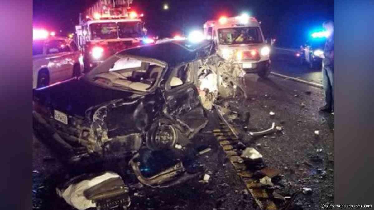 Highway 49 Shut Down Outside Of Auburn After Fatal Crash, Car Fire