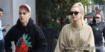 Justin Bieber Grabs Coffee With Wife Hailey After Getting New Neck Tattoo
