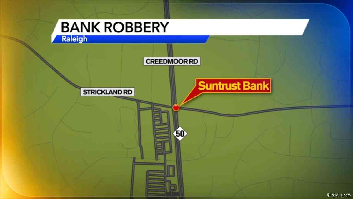 Police seeking 4 suspects after armed bank robbery in Raleigh