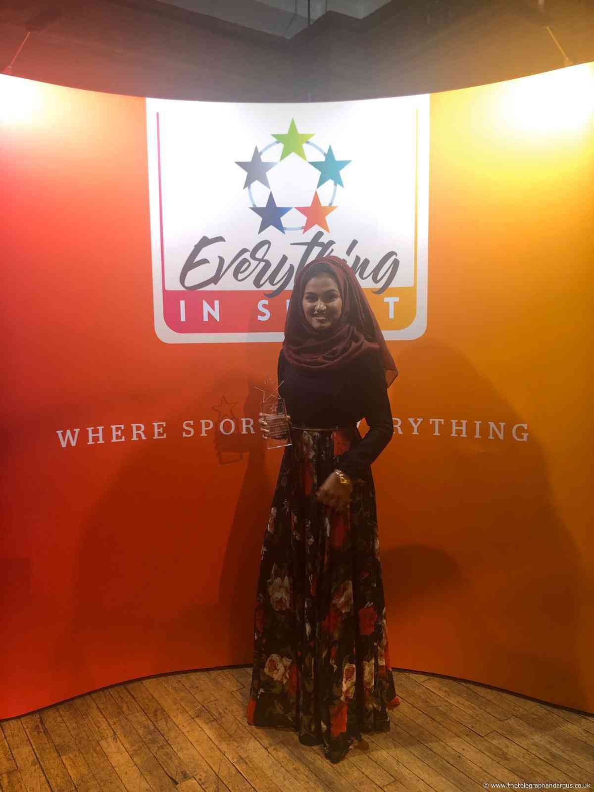 Bradford College student named an 'Unsung Heroine of Women's Sport'