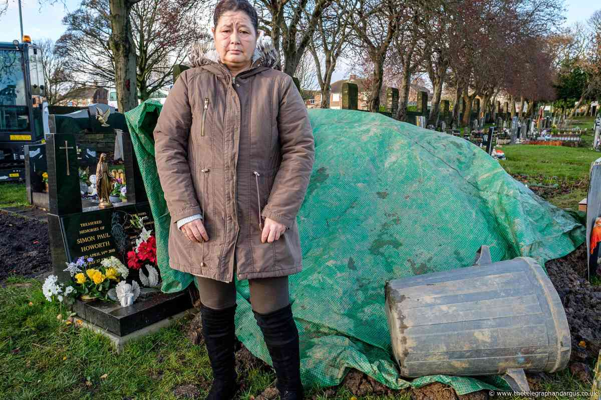 Buttershaw woman hits out over graveside mess at North Bierley Cemetery