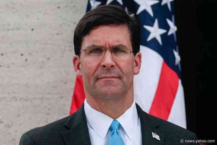 U.S. military has enough capability in Middle East for now: Esper