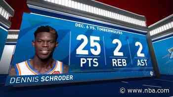 Highlights: Dennis Schroder | Thunder vs. Timberwolves