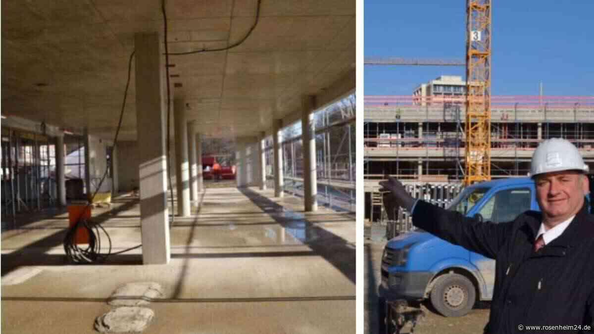 21.000 Kubikmeter Beton stecken in Wasserburgs Großbaustelle