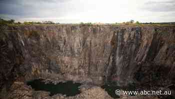 As Victoria Falls slows to a trickle, Zambia raises alarm over climate change