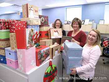 Allstate employees in Sudbury support Shoebox Project for Women