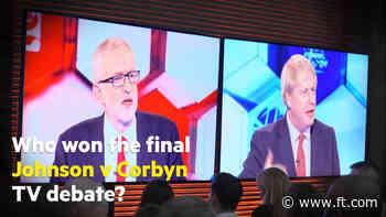 Johnson v Corbyn: who won the final UK election debate?