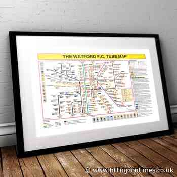 New London Underground map shows the history of Watford Football Club