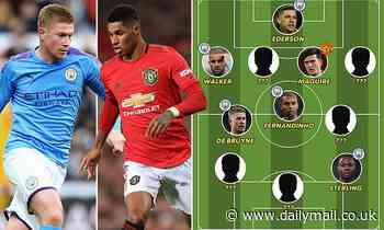 Man City vs Manchester Utd combined XI: Just three United players make the cut