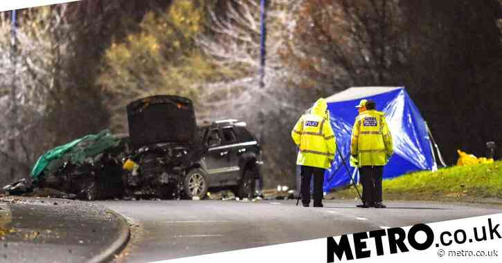 Two dead and three seriously injured after late night car crash