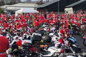 Hundreds of Santas spotted riding around Bristol today
