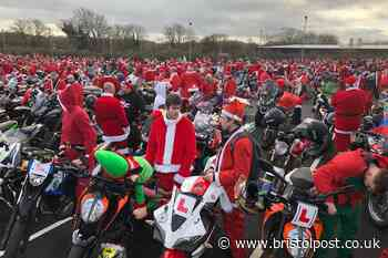 In pictures: Bristol Santa ride