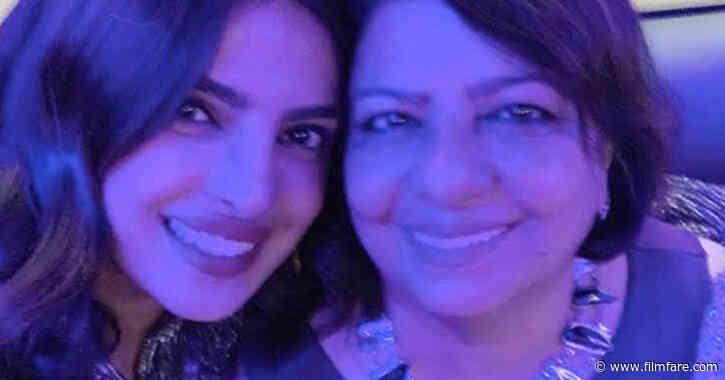 Priyanka Chopra attends the Snowflake ball with her mother Madhu Chopra