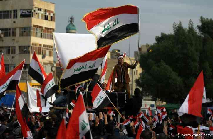 Iraqis protest to defy 'slaughter' in Baghdad as drone hits cleric's home