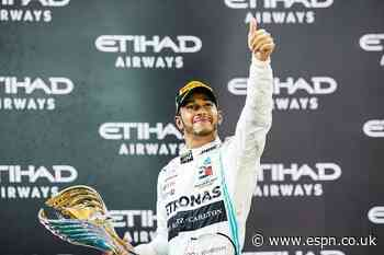 Hamilton collects sixth world title trophy