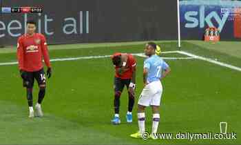 Fred hit by object thrown by Man City fans as Man United midfielder went to take corner at Etihad