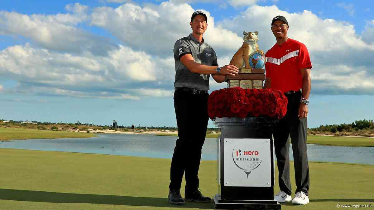 Stenson fends off Tiger, Rahm to win Hero World