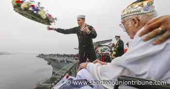 USS Midway's annual Pearl Harbor ceremony touched with sadness as number of survivors dwindles
