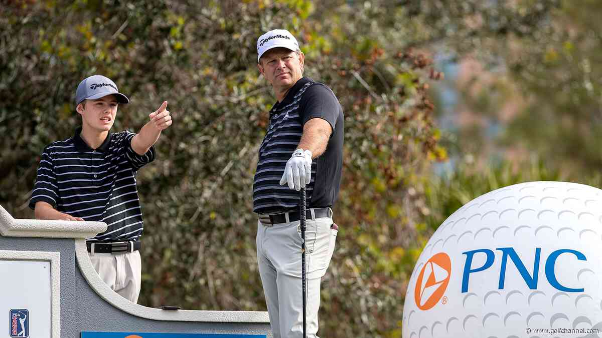 Goosens lead Langers, Duvals after first round of PNC Father/Son Challenge
