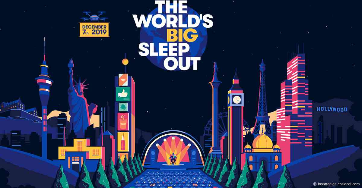 Celebrities Participate In 'The World's Big Sleep Out' In Solidarity For Homeless