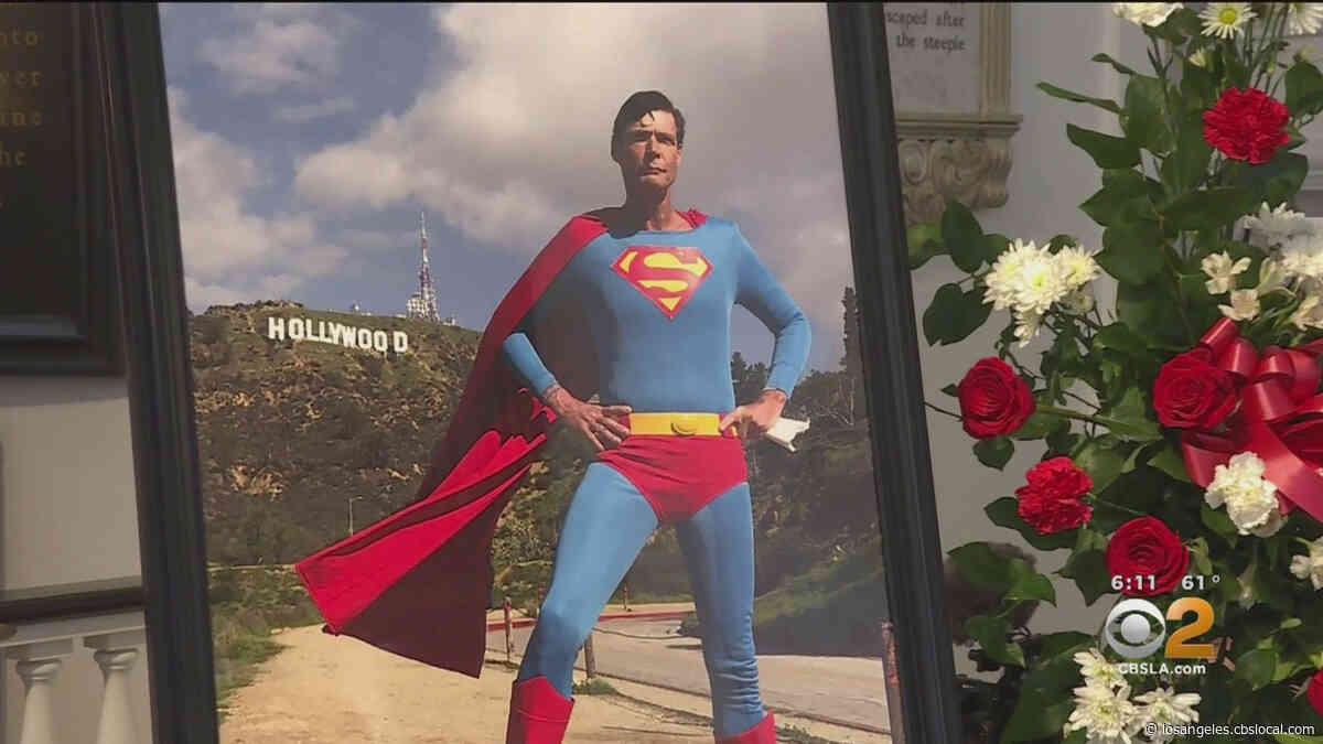Memorial Service Held For 'Hollywood Superman' Christopher Dennis