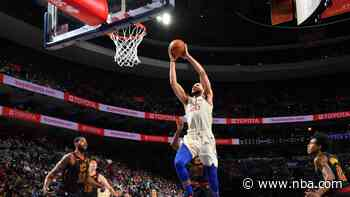 GAME RECAP: Sixers 141, Cavaliers 94