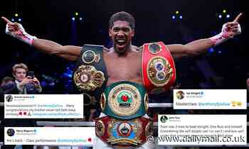 Harry Maguire, Andre Ward and Ian Wright congratulate Anthony Joshua victory's over Andy Ruiz Jr