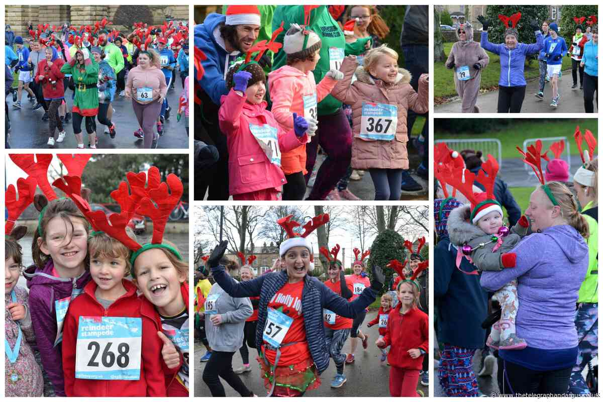 Reindeer Stampede in aid of Epilepsy Action at Bradford's Lister Park